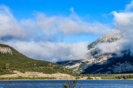 A view from the shore line, Lac de Arc, Alberta, Canada