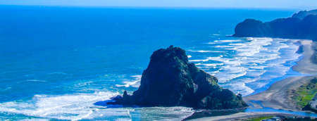 crashing oceans, high waves, surfing, rock formations, rock out crops, beaches, lion rock,