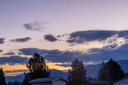 A cool looking sunrise greets the early risers in columbia Montana