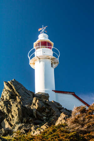 Lobster cove Head Lighthouse, Gros Morne National Park, Newfoundland, Canada Stock Photo