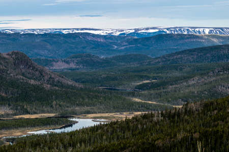 A loook at the valley from the Roadside, Gros Morne National Park, Newfoundland, Canada Stock Photo