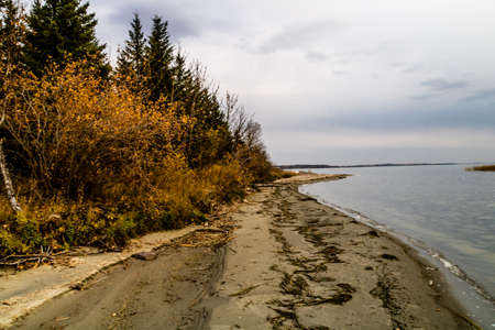 On the shores of Jack fish lake sits Battleford Provinciall Park in Saskatchewan