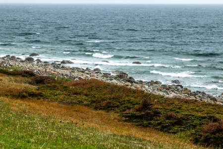 Rocky shorelines from the Roadside, Gros Morne National Park, Newfoundland, Canada