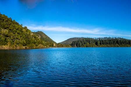 Stunning blue waters of Blue Kake, Rotarua, New Zealand