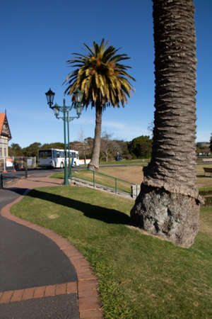 A stroll around the grounds at Goverment Gardens, Rotarua, New Zealand Stock Photo
