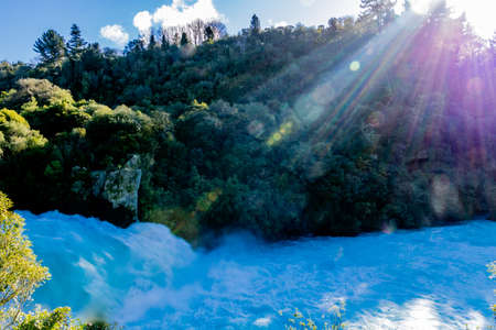 Huka falls is the main tourist attraction, Taupo, New Zealand