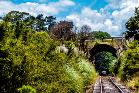 ranching, pastures, blue skies and a ride on the railroad make any visit to Dargaville complete for any traveller Stock Photo
