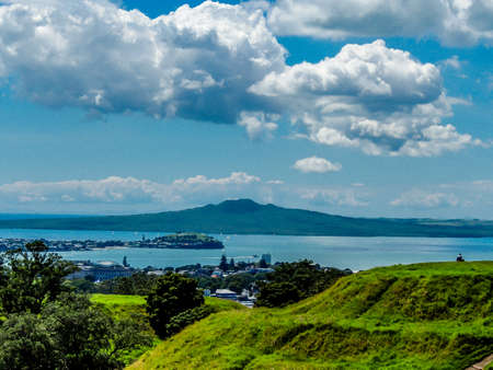 Scenics views and rock formations and writing on Mount Eden, Auckland, New Zealand Reklamní fotografie
