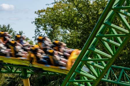Views while walking around Busch Gardens, Tampa, Florida, United States Editorial