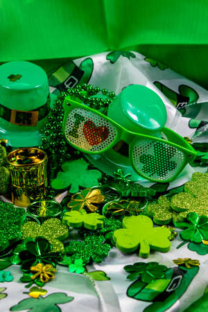 Colourful St. Patricks Day decorations. Calgary, alberta, Canada