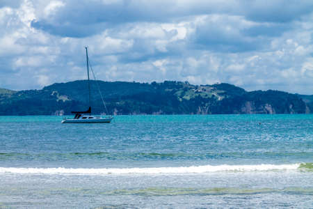 Sailboats on Stanmore Bay. Auckland, New Zealand 写真素材