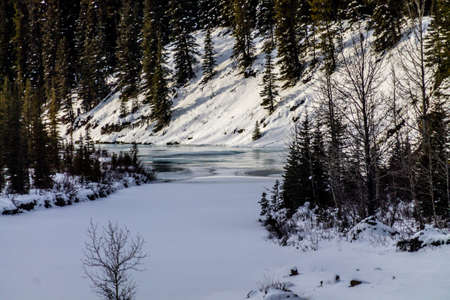 Winter takes a firm grip on the park. North Ghost Provincial Recreation Area, Alberta, Canada