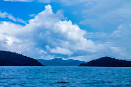 Views of the Islands from a charter boat. Bay of Islands, New Zeland