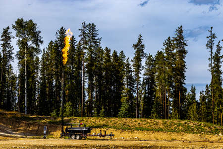 Fall colours on a drive around Clearwater County Alberta Canada Banque d'images