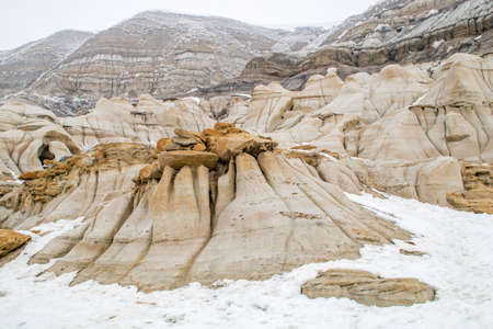 Last days before spring offically arrives in the badlands. Drumheller Alberta, Canada. Banque d'images