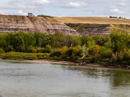 Badlands along the Red Deer river. Rosedale, Alberta, Canada