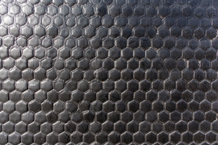 Black honeycomb texture pattern photo