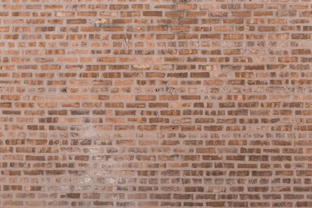 Large red brick wall