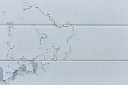 Double White Painted Garage door photo