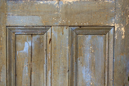 Old repainted door photo