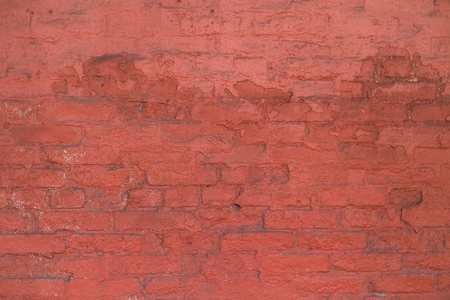falling apart: Old red brick wall falling apart Stock Photo