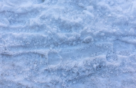 walking path: Walking path in the snow Stock Photo