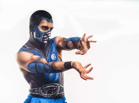 sub zero: Professional bodyart Sub-Zero from Mortal Kombat