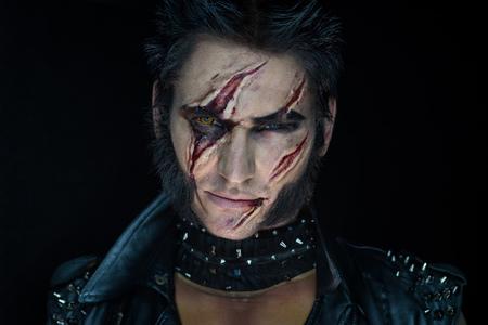 Professionele make-up weerwolf Wolverine