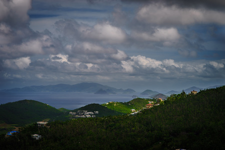 View of the mountin, sea and sky in St Thomas, US Virgin Islands