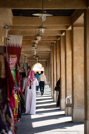 Old marketplace in Souq Waqif - eastern bazaar in Doha.