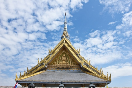 Roof in the sky, temple, Thailand photo