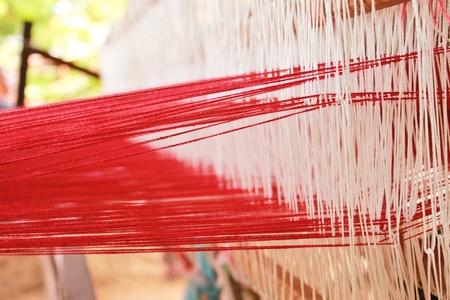 raw cotton: weaving machine