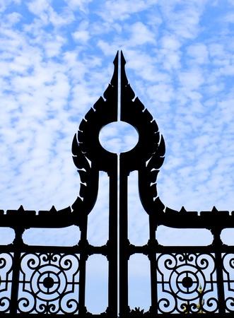 Gate, sky photo