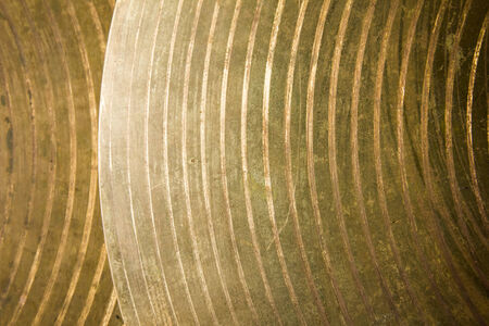 Brass cymbal texture for background photo