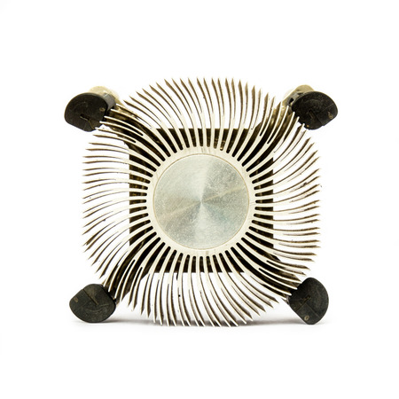 Zinc for cpu fan, hardware computer isolated on white background  photo
