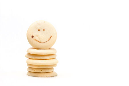 cookies with smile face isolated on white background. photo