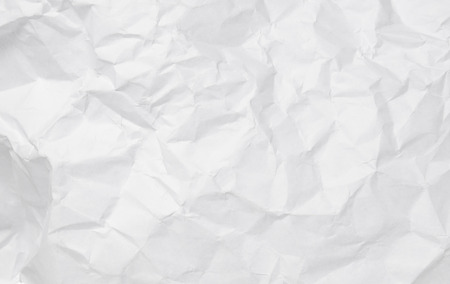 Texture of crumpled white paper for background.