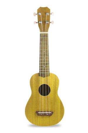 bluegrass: Ukulele guitar isolated on white background.