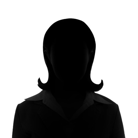 Unknown short hair businesswoman silhouette. Stok Fotoğraf