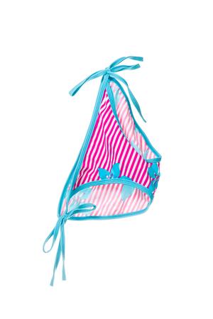 undergarment: Colorful beach bikini panties isolated on white background. Stock Photo