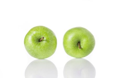 green apples: Green apples isolated on white background.
