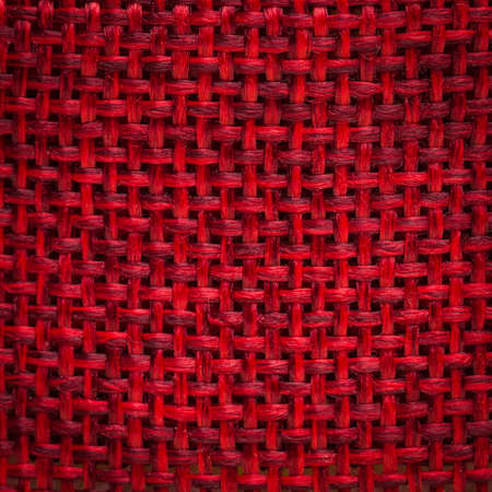 hessian: Red hessian macro fabric texture background.