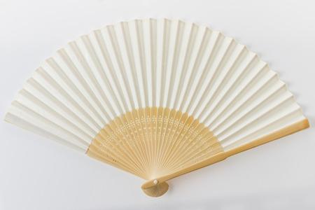 White Chinese fan.