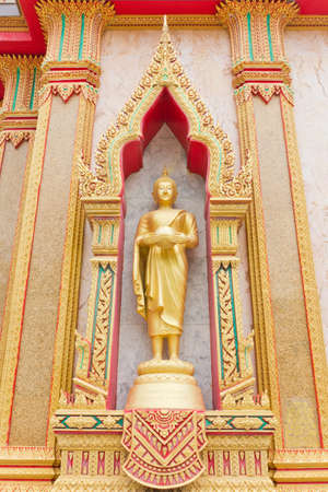 Golden Buddha Wat Chalong temple, Thailand