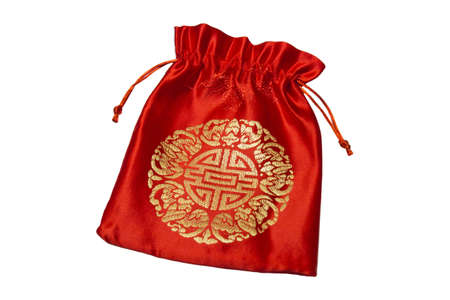 Red bag for Chinese New Year on white background Stock Photo - 13046012