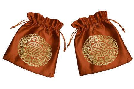 Red bag for Chinese New Year on white background Stock Photo - 13046014