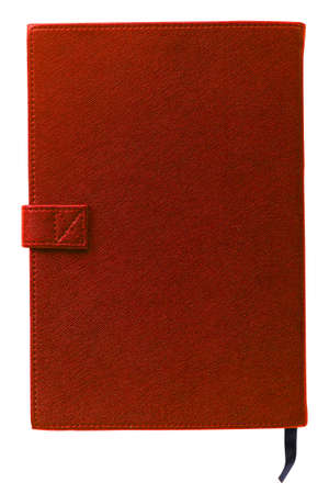 diary cover: Brand new Red hardcover book with blank cover - insert your own design Stock Photo
