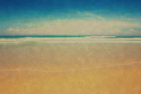 Retro beach and blue sky for background Stock Photo - 17969608