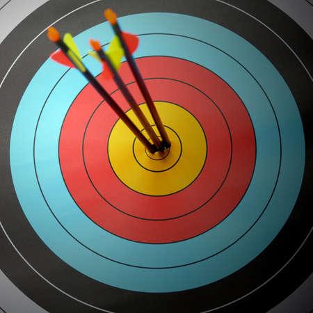 target business: Arrow golpear anillo objetivo en objetivo de tiro con arco