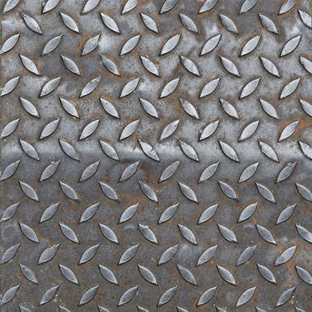 Aluminium dark list with rhombus shapes photo